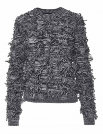 Womens knitwear online: Alessia Xoccato black white sweater