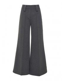 Pantaloni donna online: Pantalone in felpa Alessia Xoccato colore grigio