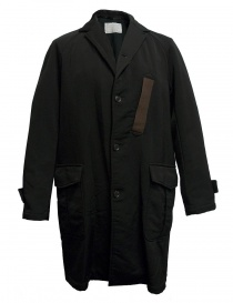 Mens coats online: Kolor black coat