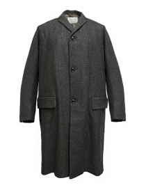 Mens coats online: Kolor melange grey coat