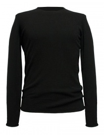 Mens knitwear online: Label Under Construction Punched black sweater