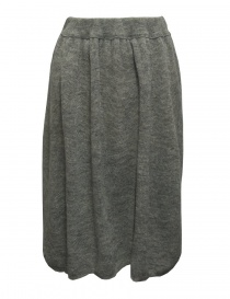 Womens skirts online: Sara Lanzi gray wool skirt