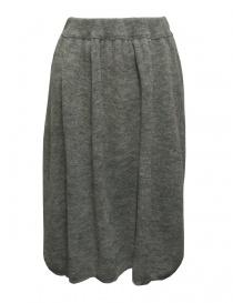Sara Lanzi gray wool skirt 03J-WNW-07-SKIRT-GREY order online