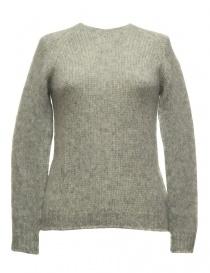 Womens knitwear online: Sara Lanzi gray sweater