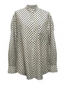 Womens shirts online: Sara Lanzi black and white dotted shirt
