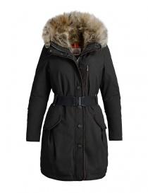 Womens coats online: Parajumpers Borah black parka coat