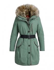 Womens coats online: Parajumpers Borah moss green parka coat