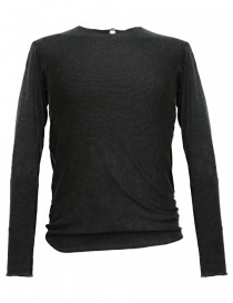 Mens knitwear online: Label Under Construction Arched Printed dark grey sweater