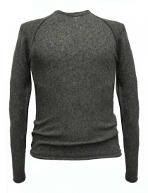 Mens knitwear online: Label Under Construction Zipped Seams Yardstick grey sweater