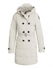 Cappotti donna online: Spolverino parka Parajumpers Hakuro colore bianco gesso