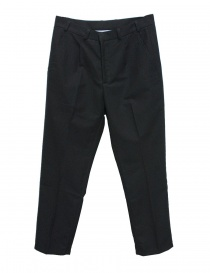 Mens trousers online: Camo dark blue chino trousers