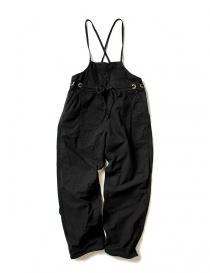 Pantaloni donna online: Salopette Kapital in cotone nero