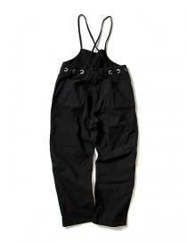 Kapital black cotton overalls
