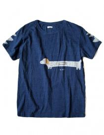 T-shirt Kapital indigo con stampa K1708SC021-IDG-TSHIRT order online