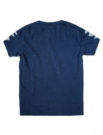 T-shirt Kapital indigo con stampa