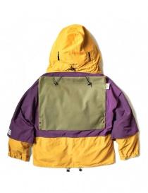 Kapital Kamakura yellow and purple anorak jacket