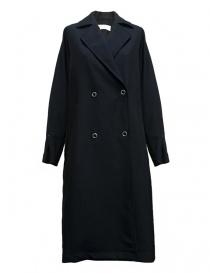Womens coats online: Rito navy wool coat