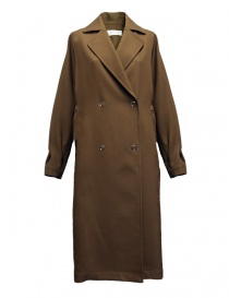 Womens coats online: Rito camel wool coat