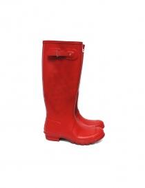 Hunter red boots HUSORGRDW233 order online