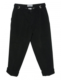 Cellar Door Leo T black velvet trousers LEOT-P110-99 order online