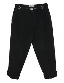 Pantalone Cellar Door Leo T in velluto nero LEOT-P110-99 order online