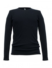 Mens knitwear online: Label Under Construction Punched navy sweater