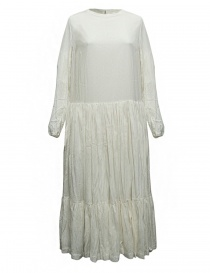 Womens dresses online: Casey Casey natural white banana fabric dress