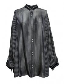 Womens shirts online: Rito oversize blue stripes shirt