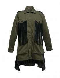 Womens suit jackets online: Rude Riders fringed and patched jacket