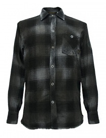 Camicie uomo online: Camicia a quadri Rude Riders colore grigio scuro