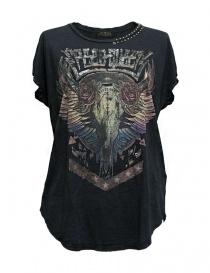 T shirt donna online: T-shirt Rude Riders con borchie colore grigio scuro