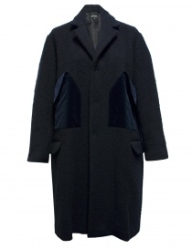 Cappotto Miyao in lana colore blu MN-C-02-COAT-NAVY order online