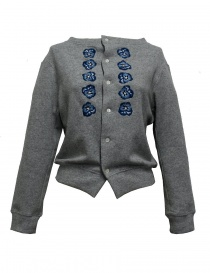 Miyao embroidered gray cardigan online