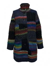 Womens coats online: Fuga Fuga multicolor wool coat