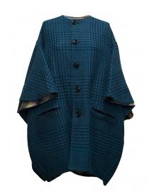 Cappotti donna online: Cappotto Beautiful People a quadri colore blu pavone