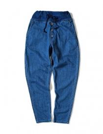 Pantaloni donna online: Pantalone Kapital con elastico colore blu