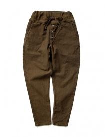 Pantaloni donna online: Pantalone Kapital con elastico colore marrone