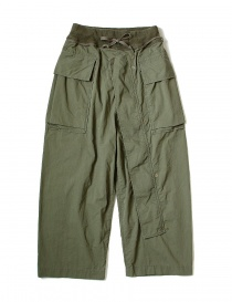 Pantaloni uomo online: Pantalone cargo Kapital verde con elastico