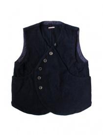 Kapital blue wool gilet online