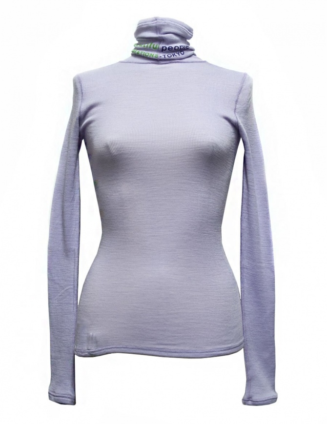Beautiful People turtle neck purple pullover 1735310012-PURPLE-PU womens knitwear online shopping
