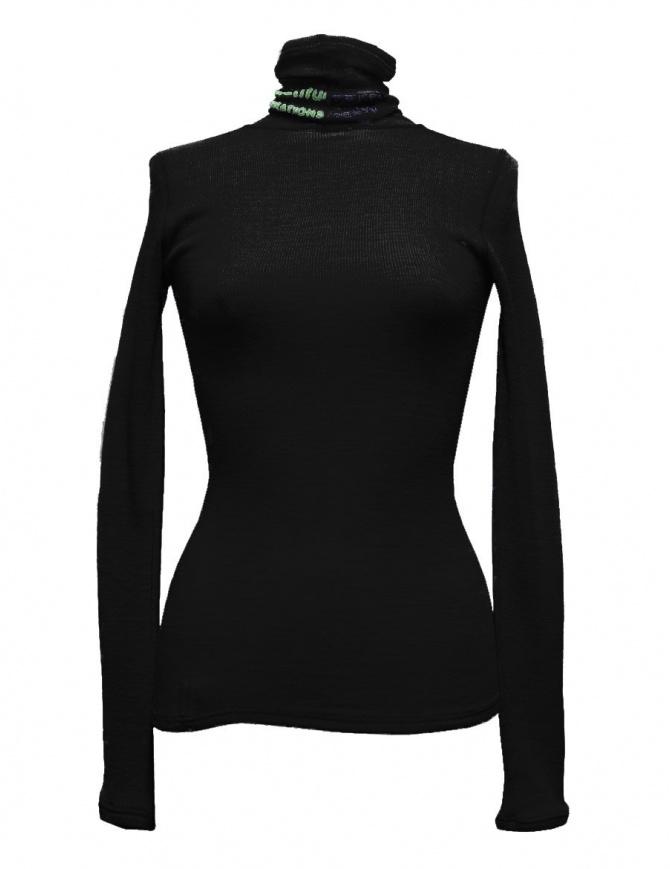 Beautiful People turtle neck black pullover 1735310012-BLACK-PU womens knitwear online shopping