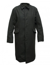 Cappotto Casey Casey in lana grigio verde online