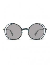Occhiale da sole Kuboraum Maske H10 in metallo colorato H10-48-21-BG-BSILVER order online