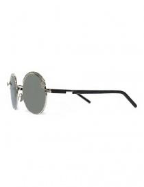 Occhiale da sole Kuboraum Maske Z1 in metallo colore argento