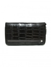 Tardini dark brown waxed alligator leather handbag online