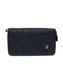 Tardini woven alligator leather blue documents case online