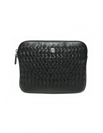 Tardini woven alligator leather black underarm bag online