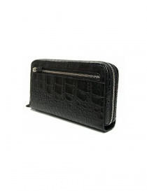 Tardini black waxed alligator leather handbag