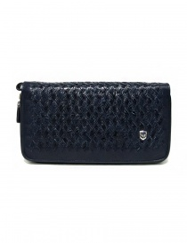 Tardini woven alligator leather blue handbag online