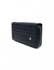 Tardini woven alligator leather blue handbag